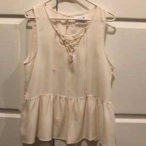 Womens Lace-Up Tank Top
